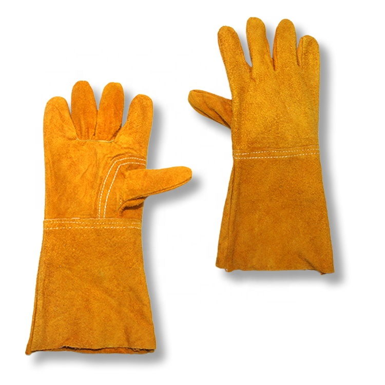 Hot sale welding hand protection cow split leather safety glove