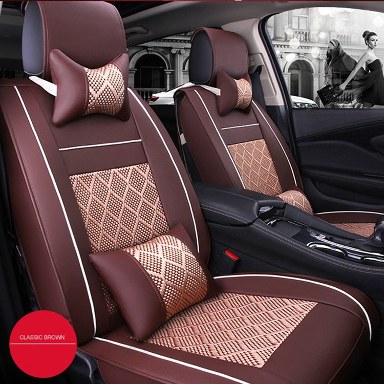 Universal Size Car Seat Cover / Breathable Car Seat Protector Cover PU Leather Car Interior Accessories
