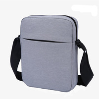 Custom fashion business square shoulder bag for man