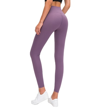 New Seamless Yoga Pants With Double-Sided Chafing Nude Feel Lift Hip And High Waist Running Exercise Fitness Nine-Minute Pant