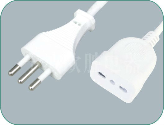 Italian IMQ 3 Pins Power Cord with extension socket