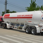 Small 45m3 lpg road tanker truck trailer
