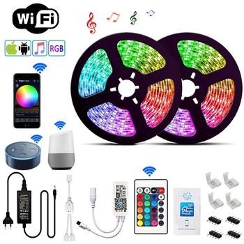 RGB LED Strip Kit, 10 m 16 Million Colours Controllable via App SMD 5050 LED Strips Compatible with Alexa Google Home IFTTT, IP
