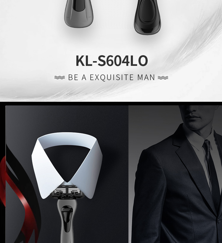 KL-S604LO KAILI New Design 6 blades razors online gift box system shaving razor metal handle safety manual razor for man