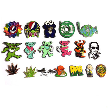 100% Factory Store Dab Hat Pin /Grateful Dead Lapel Pin/Dancing Bear Pin Over 200 Styles With Made Molds  MOQ 100 each Style