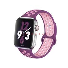 Ремешок для apple watch band 44 мм 40 мм iwatch band 42 мм 38 мм силиконовый спортивный ремешок аксессуары браслет для серии 5 4 3 44 мм(Китай)