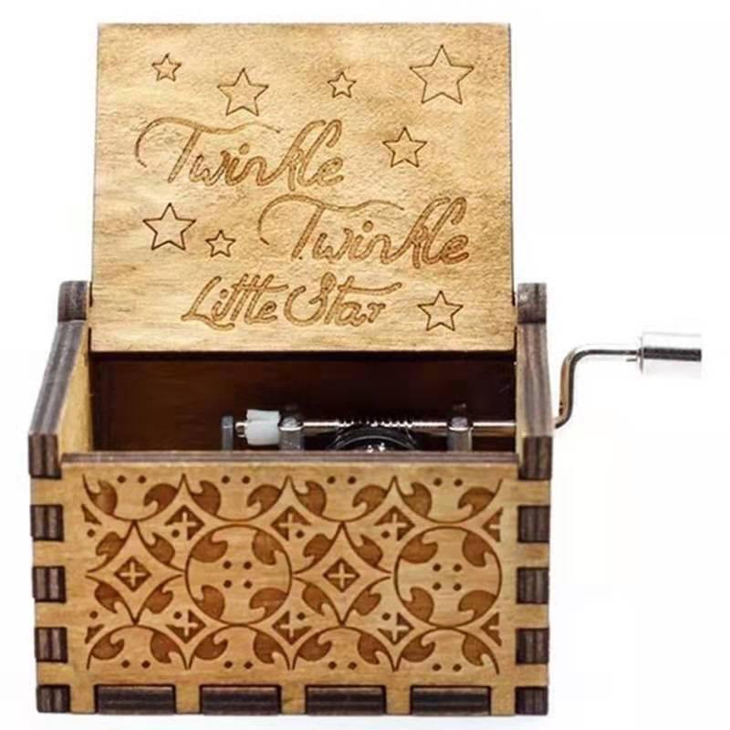 newest design hand crank diy music box for wholesale