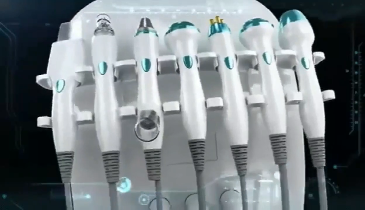 2020 Trending Intelligente Ijs Blauw Microdermabrasie Gezichtsreiniging Peeling Schoonheid Machine Met Skin Scanner Analyzer