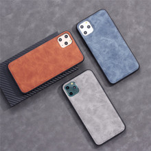 Ultra Thin Phone Cases Für iPhone 11 Pro Max Abdeckung Crazy Horse Haut Weich TPU Silikon Fall, leder telefon fall für iphone xs