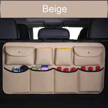 Сумка для хранения багажника из искусственной кожи, 5 цветов, задний карман для заднего сиденья, подвесная сумка для украшения автомобиля, а...(Китай)