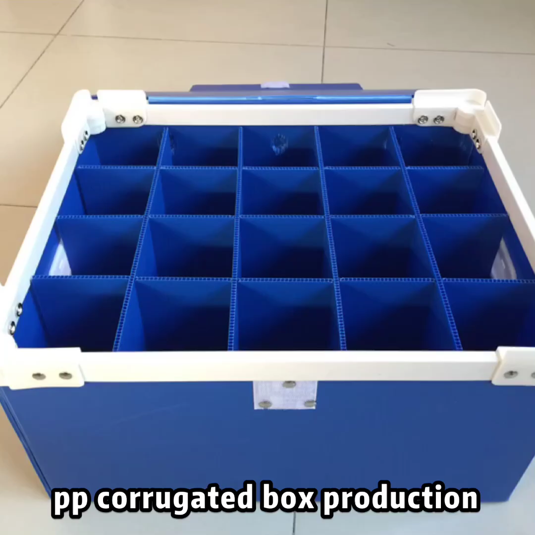 plastic pp corrugated box with divider custom made for packing shipping storages
