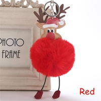 China latest fashion simple key chain Fur ball Pompon Keychain Pompom Keyring Bag Car Trinket Women Gift