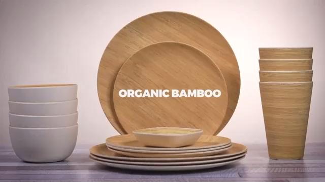 wholesale home reusable bamboo fiber bamboo plates dinner plates plates