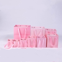 Wholesale Custom logo Luxury Pink Gift Paper Bag with Handle