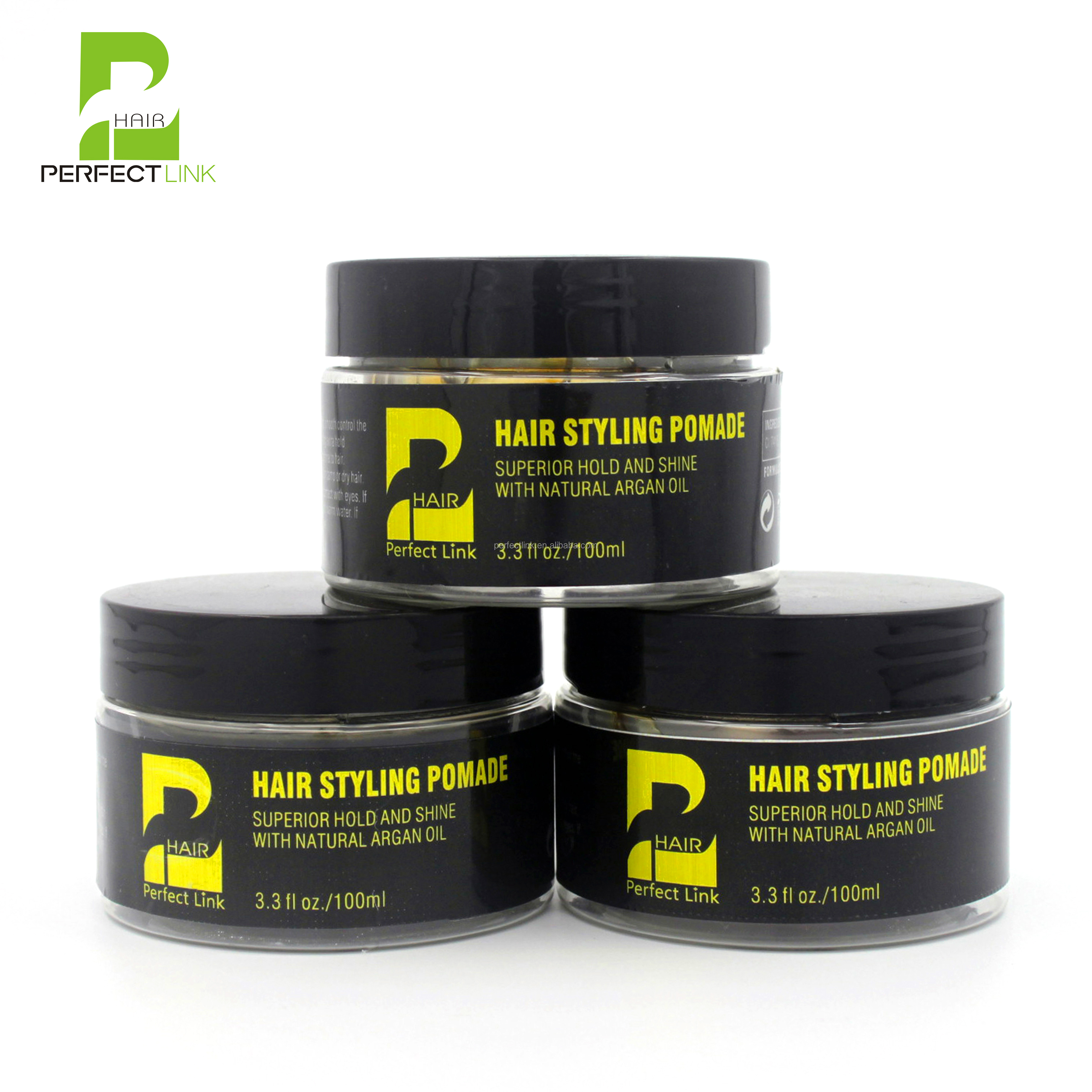 Hot Sale Medium Hold Pomade Water Soluble & Edge Control For Hair (100ml ) OEM/ODM/Private Label