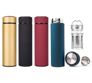 Double Wall Stainless Steel Durable Wholesale Thermos Water Bottle With Tea Infuser
