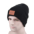 Custom Embroidery Leather Patch Knit New Beanie ,100% Acrylic Black Beanie