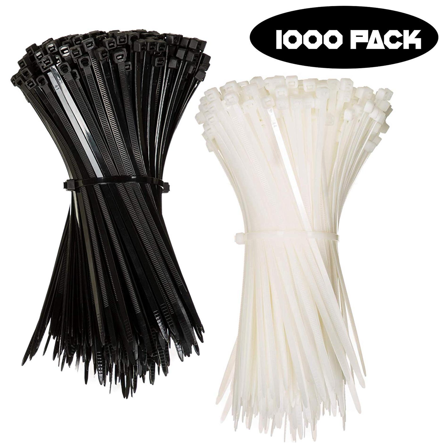 Hampool Wholesale 2.5x200mm Self Locking Black Cable Tie