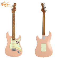 Shijie <span class=keywords><strong>Guitar</strong></span> STE-STD-SP Đặt Alder Cơ Thể Rang Maple Cổ Alnivo Pickups ST Phong Cách Electric <span class=keywords><strong>Guitar</strong></span>
