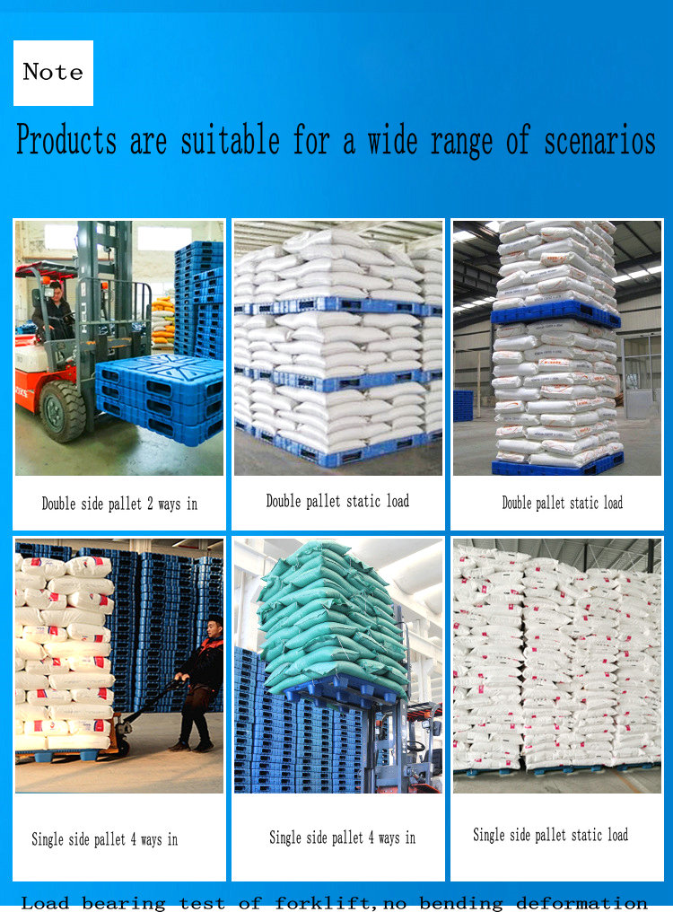 Single Face 4 way entry Nine feet warehouse and logistics Plastic Pallet