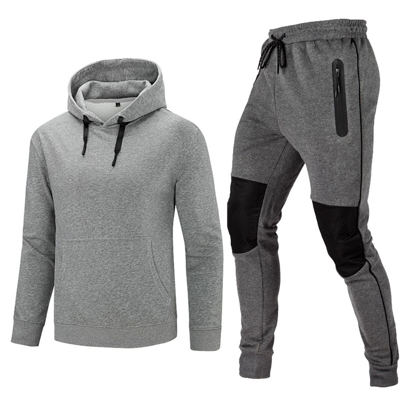 X-Future Mens 2 Piece Warm Athletic Jogging Hoodie and Pants Lined Sweatsuit Outfit Set