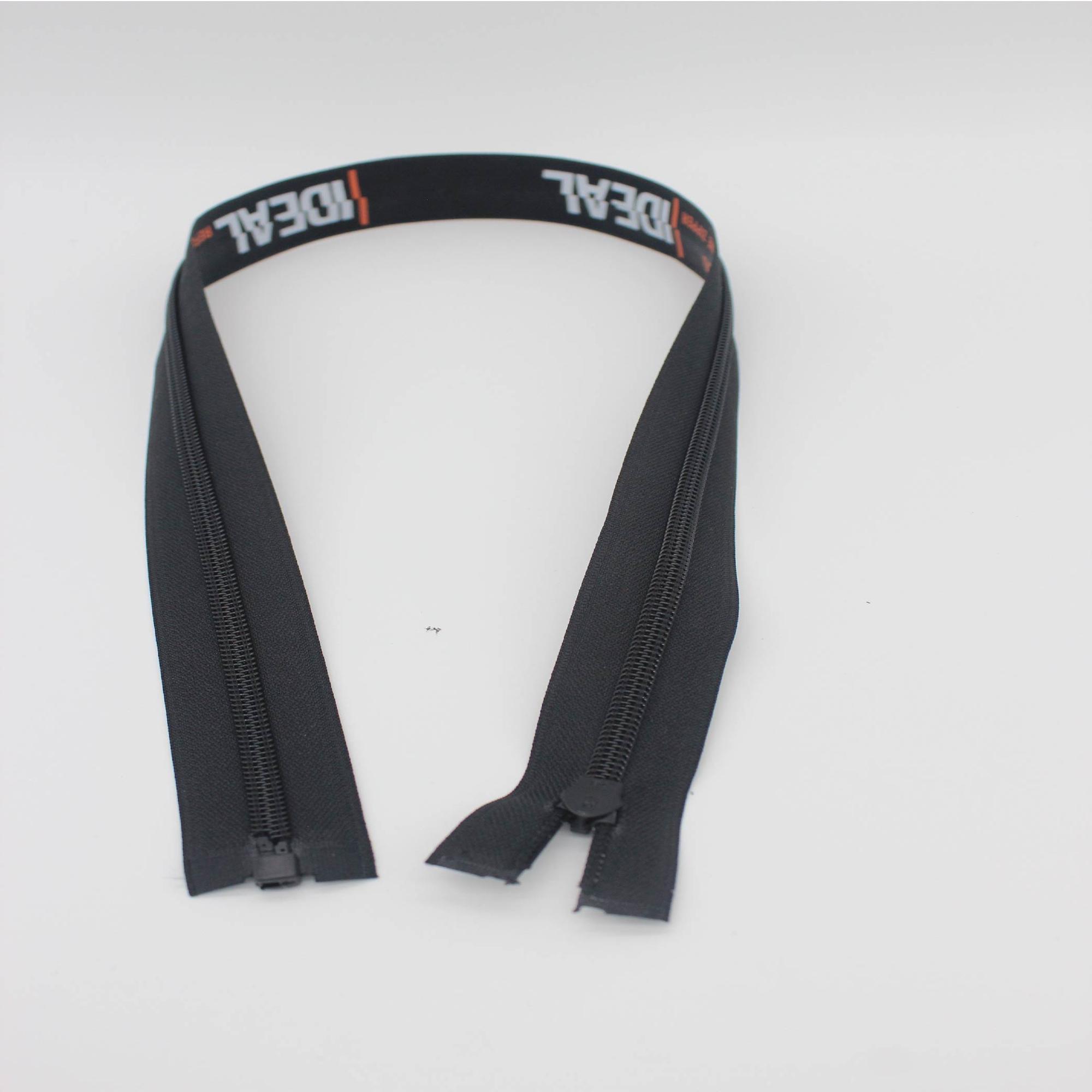 Custom good quality durable #5  waterproof long chain nylon open end zipper for garment accessories