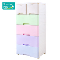 Rainbow Cupboard Cabinet Baby Plastic Wardrobe for Clothes