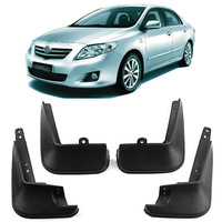 Dasbecan Universal Car Fender Flares For Toyota Corolla 2006-2013 Mudguard Mud Flaps