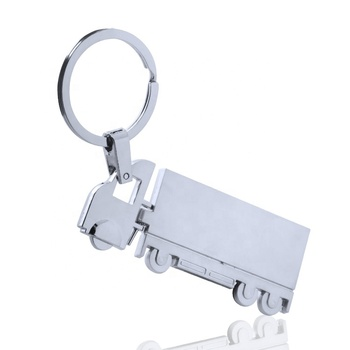 Hot sale promotion metal keychain key ring 3d truck pendant decor alloy key chain