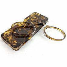 Леопардовые круглые очки для чтения с зажимом для носа, мини портативные Tr90 увеличительные очки для пресбиопии для женщин и мужчин, чехол 1,0 ...(Китай)