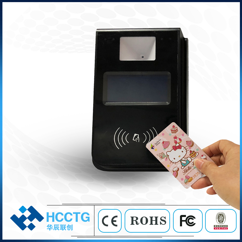 Hot Sale Linux System Smart Cards Scanner NFC Bus Validator With QR Code P18-L2