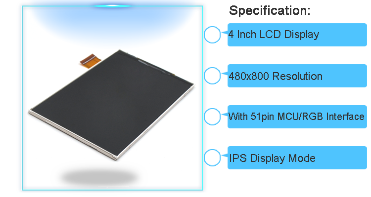 4 inch ips lcd displays