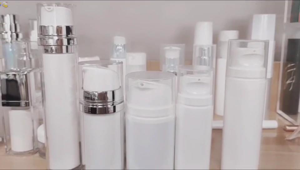 15ml 30mlエアレスポンププレスボトル真空容器バイアルジャーホルダーメイクアップエマルジョンアルマイトクリームポンプボトル