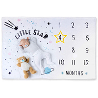 china wholesale monthly milestone baby blanket