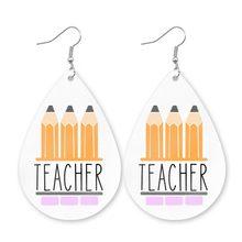 Женские серьги-карандаш Cpop, из искусственной кожи, для учения, медвежонок, медсестры, подарки для учителя, Ловец снов, ювелирные изделия(Китай)