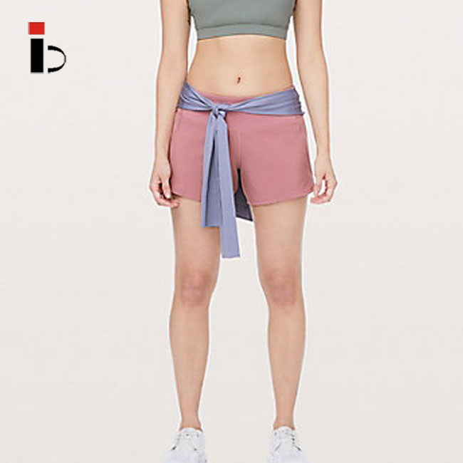 OEM Custom wholesale comfortable high quality women light coral shorts