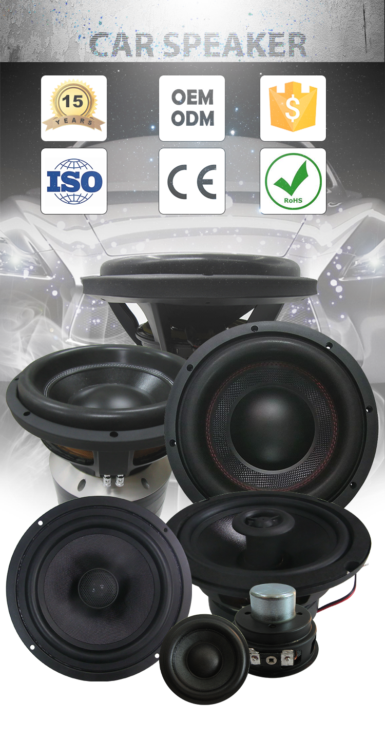 High Quality Manufacturers OEM/ODM 6.5 Inch 50w Pro Audio Coaxial Car Speaker For Cars