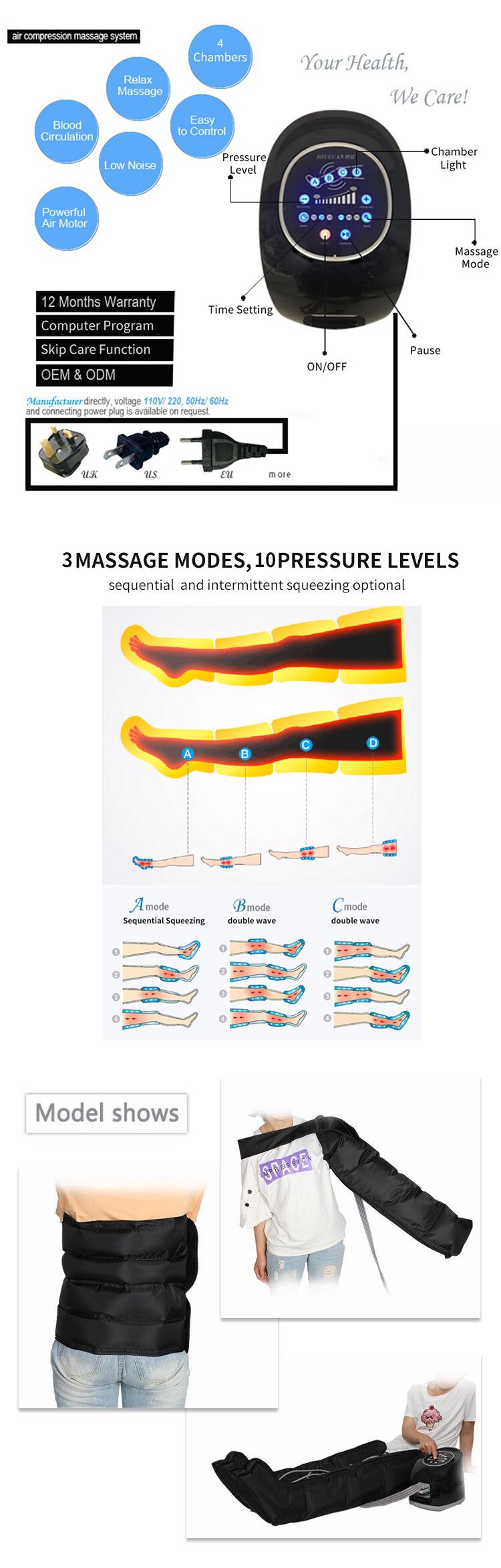 Spierherstel Lymfoedeem Fysiotherapie Apparatuur Normatec Dvt Pomp Been Voet Massager Machine