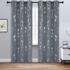 Curtains Curtains With Pattern Thermal Insulated Black Out Curtains With Striped Wave Vine Print Window Curtains
