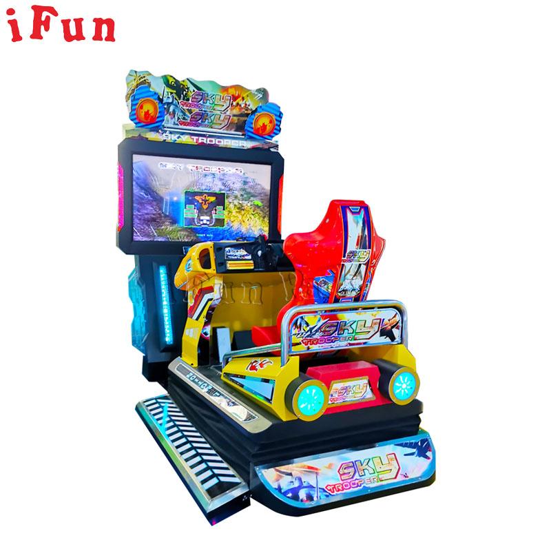 Yeni varış jetonlu Video oyunları araba yarışı oyunu 3D hareket araba yarışı atari makinesi