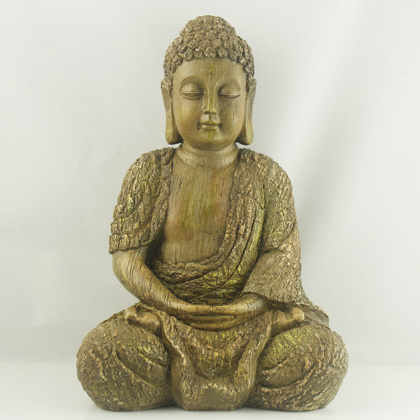 Buddha statue large wooden buddha for garden decoration