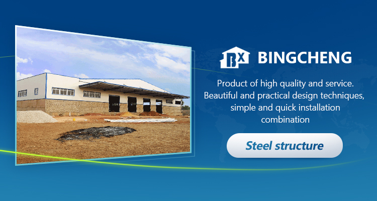 Easy install portable bricked steel structure workshop in Senegal
