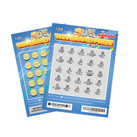 Custom Printing lucky card scratch off lottery tickets lotto paper lottery scratch card