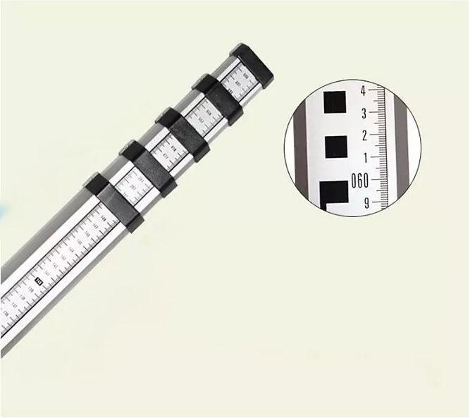 Все длины телескопические алюминиевые выравнивающие штатные геодезические полюсные съемные аксессуары, съемные стержни, полюсные съемные наконечники
