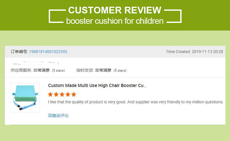 Factory Direct Sales  Booster Cushion KidsHeight Increase Booster Seat Cushion Pads for Kitchen Chair High Chair