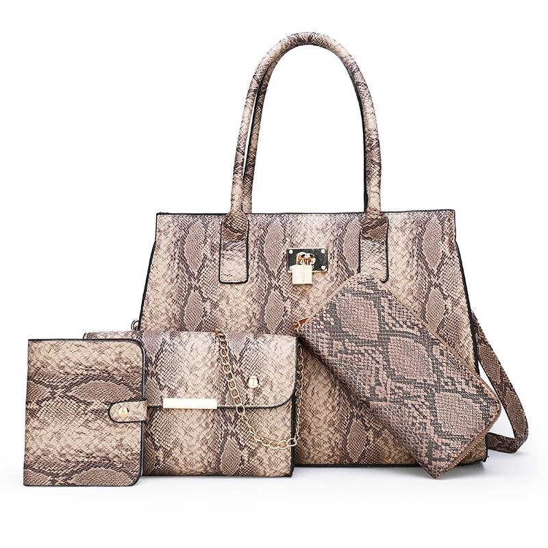 Bolso pequeño estampado de serpiente de lujo para mujer, bolsos de piel de pitón de cuero, bolsos de hombro de diseñador a la moda, bolsos cruzados