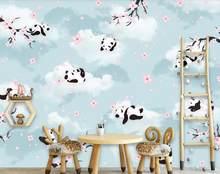 WELLYU настраиваемые современные, красивые, шелковистые стерео обои, панда фон, обои для домашнего декора, papier peint3D(Китай)