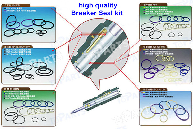 KRUPP HM1500 Hydraulic Breaker Seal kit For Hydraulic Hammer Seal Kit KRUPP HM1500 repair kit