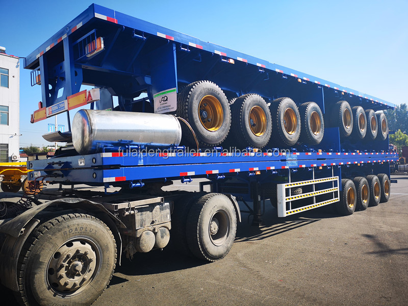 3 Axle Flatbed Tractor Trailer for Sale - TITAN Vehicle