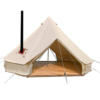 2019 New Camping Luxury Tent New Stove Bell Tent With Stove Hole